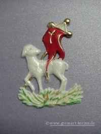 """Verzierwachs """"Lamm mit Fahne"""""""