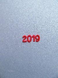 Verzierwachs Jahreszahl 2019