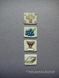 """Verzierwachs """"Kreuz-Traube-Kelch-Buch"""""""