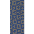 Wachsplatte  Sterne blau-gold bemalt
