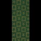 Wachsplatte  Sterne grün-gold bemalt